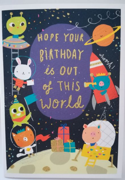 Birthday Card - Carnival Space